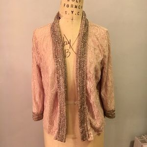Topshop Lace Beaded Blazer